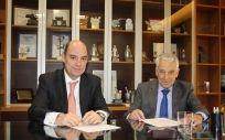 José Manuel Inchausti, CEO territorial de Mapfre Iberia, y Miguel Carrero, presidente de PSN.