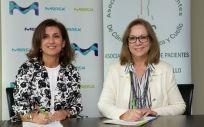 Ana Polanco, directora de Corporate Affairs de Merck junto a María Jesús Romero, presidenta de APC.