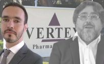 Humberto Stefanutti, nuevo director general de Vertex España y Portugal junto a su antecesor en el cargo, Felis Iglesias