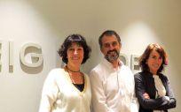 Isabel Amat, Carles Nieto y Marta Español de Reig Jofre.