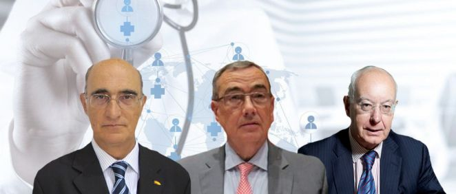 Julián García Vargas, Xavier Pomés e Ignacio Riesgo, creadores de la sociedad VPR Consultores.