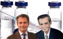 De izq. a dcha., Michel Vounatsos, CEO de Biogen, y Richard A. Gonzalez, CEO de AbbVie.