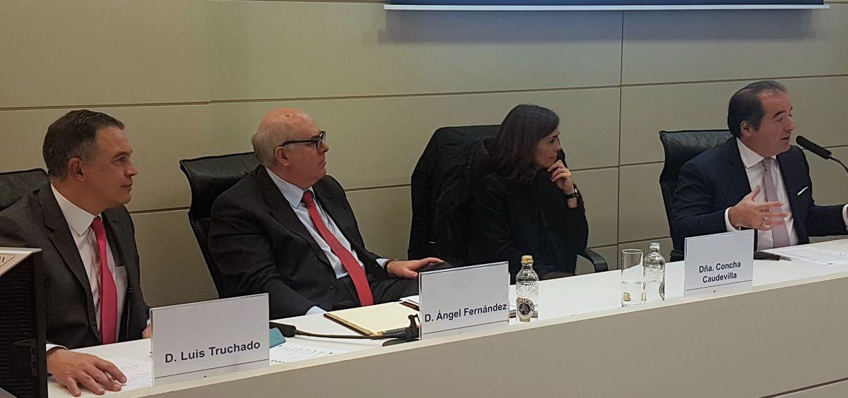 De izq. a drcha.: Luis Truchado, Ángel Fernández, Concha Caudevilla y Sergio Rodríguez
