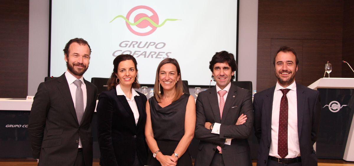 De izq. a drcha.: Emilio Martínez, Rosa Martínez, Concha Almarza, Manuel Garrido y Javier Vaquer.