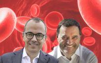 De izq. a dcha., Giovanni Caforio, CEO de Bristol Myers Squibb y Tom Heyman, CEO de Janssen.