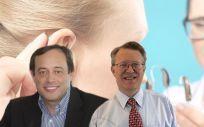 De izq. a dcha.: Ignacio Martínez, CEO de Sivantos, y Jan Topholm, presidente de Widex.