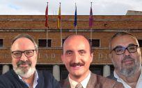 De izq. a dcha.: Juan Blanco, CEO de Mediforum; Alipio Gutiérrez, de Onda Madrid; y Emilio de Benito, de la Asociación Nacional Informadores de Salud.