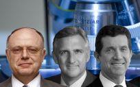 De izquierda a derecha: Ian Read, CEO de Pfizer; Robert A. Bradway, CEO de Amgen; Alex Gorsky, CEO de Johnson & Johnson y Severin Schwan, CEO de Roche