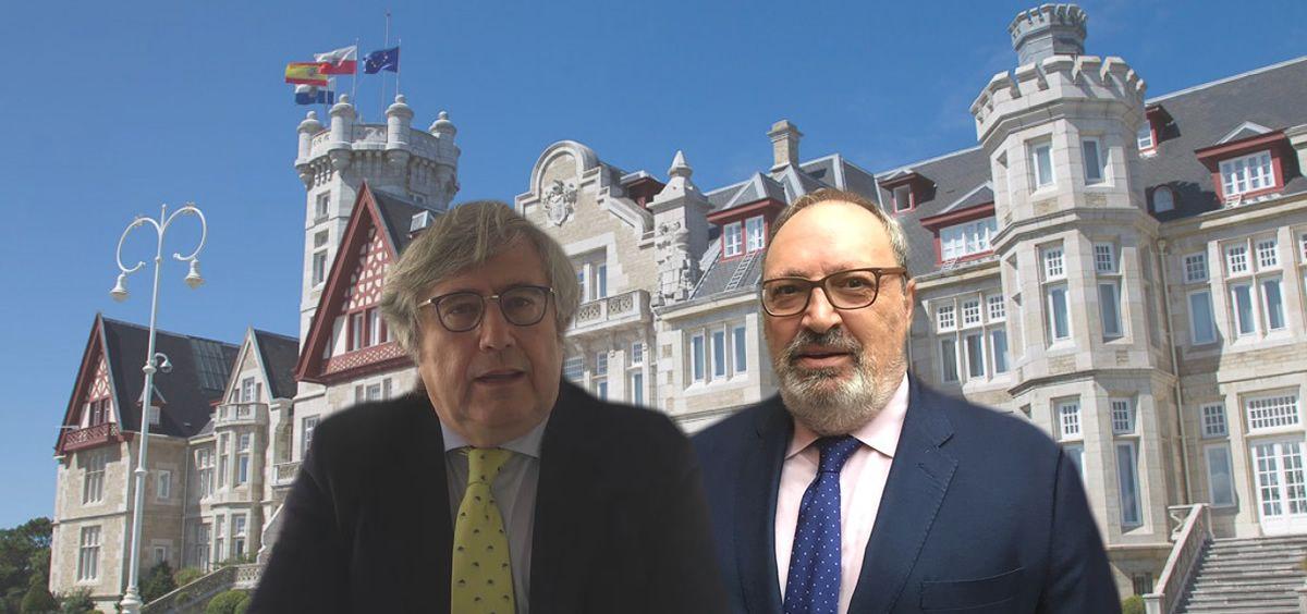 De izq. a dcha., Ángel Navarro, presidente de Fundación Azierta y Azierta; y Juan Blanco, el CEO del Grupo Mediforum.