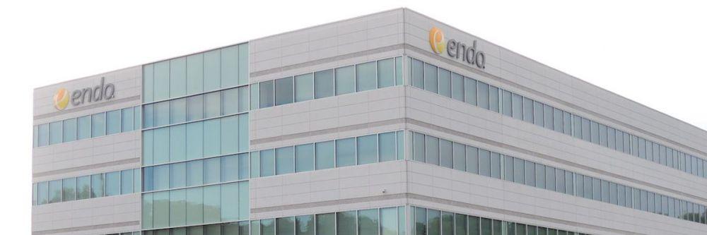 Fachada exterior de la sede de Endo International
