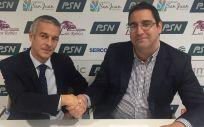 Miguel Carrero Sánchez, coordinador del equipo de Gestión de Inversiones de PSN, y David Carro, director de la Escuela de Negocios