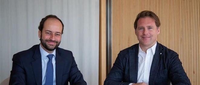 De izq. a dcha.: Raúl Rodríguez, director de BS Capital, y Josep Lluís Sanfeliu, gestor de Asabys Partners.