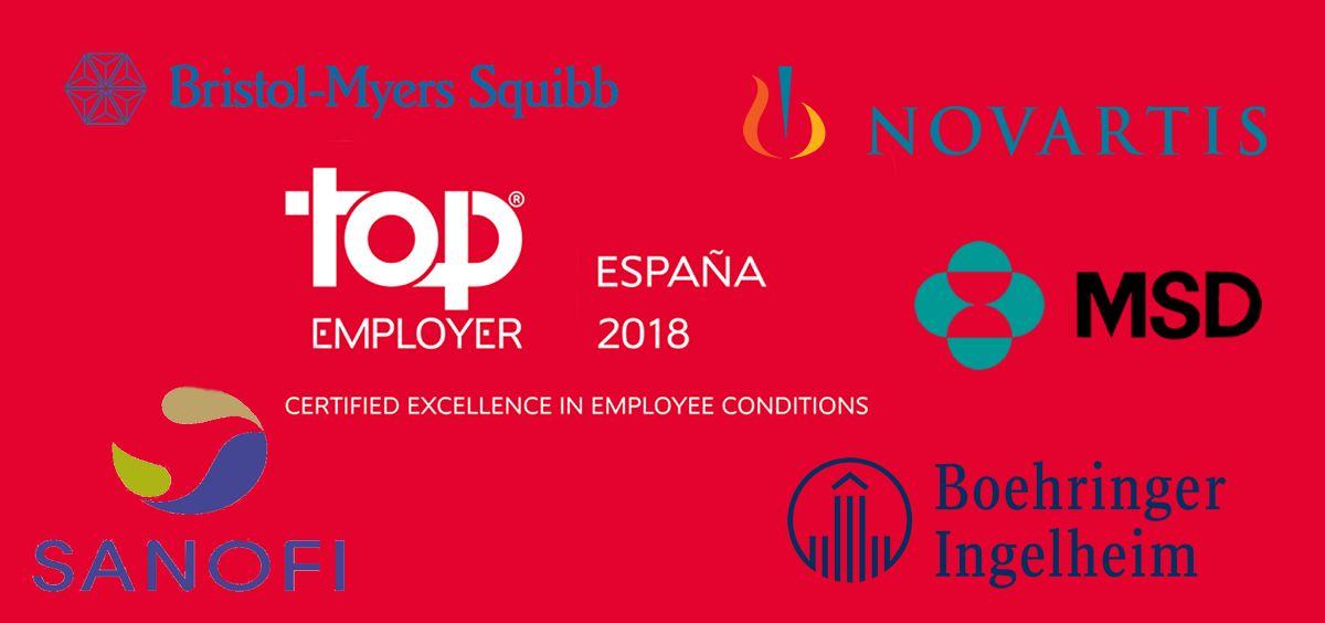 Boehringer Ingelheim, BMS, MSD y Novartis, certificadas como Top Employer España