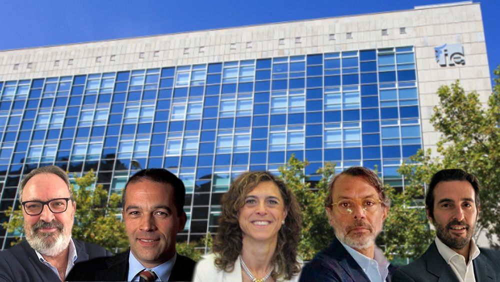 De izq. a dcha.: Juan Blanco, Luis Truchado, Inés Perea, Juan Carlos Santé y Joaquín Rodrigo.