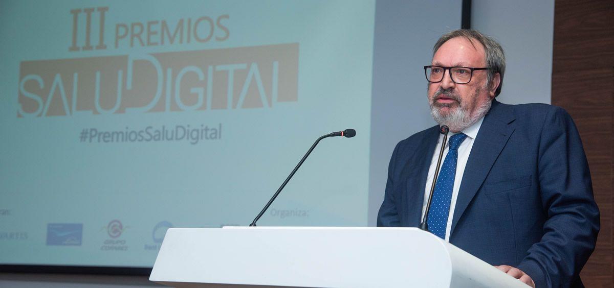 El CEO del Grupo Mediforum, Juan Blanco, durante la inauguración de los III Premios SaluDigital | Foto: Miguel Ángel Escobar