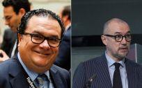 De izq. a dcha., Ignacio Quintana, director general de Forbes Summit, y Andrés Rodríguez, presidente, editor y director de Forbes España