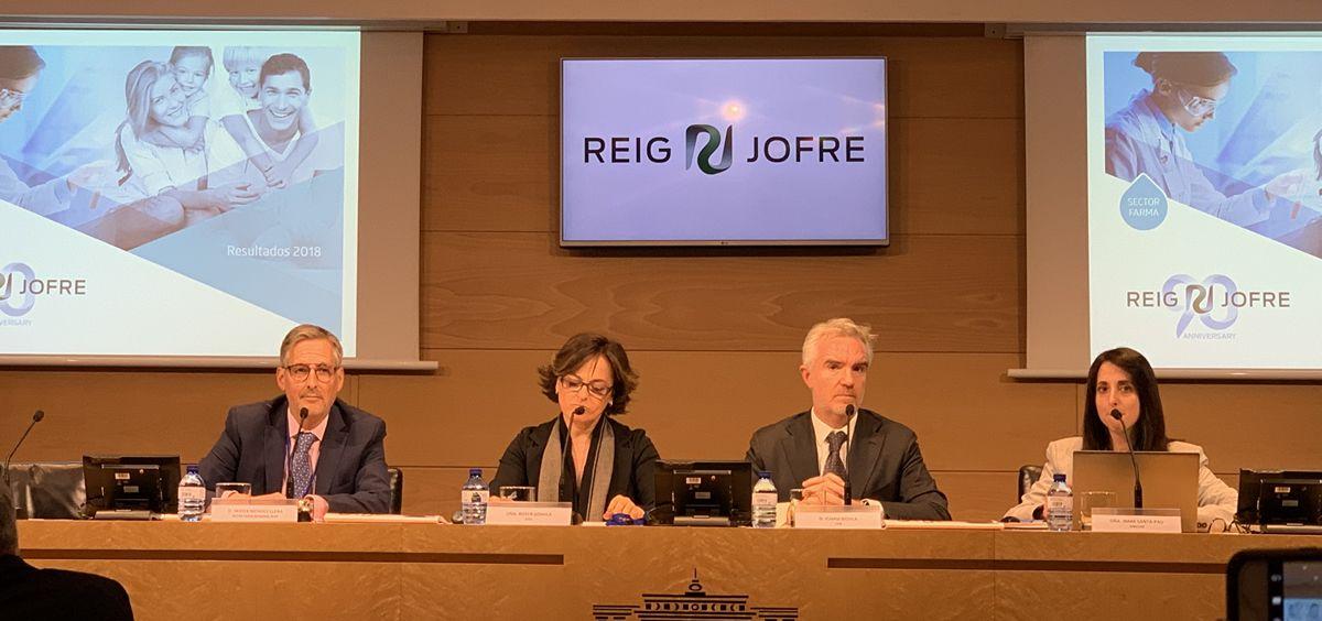 Ignasi Biosca durante la presentación de los datos financieros de Reig Jofre en la Bolsa de Madrid.