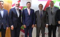 De izq. a dcha: Juan Blanco, Gaspar Linares, Julio Bertelotti, Eduardo Pastor, Juan Martín Zumarraga y Carlos Varela.