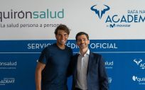 Rafa Nadal junto a Héctor Ciria, CEO de Quirónsalud.