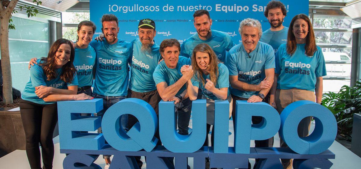 Equipo Sanitas, una representación de grandes deportistas españoles para promocionar hábitos de vida