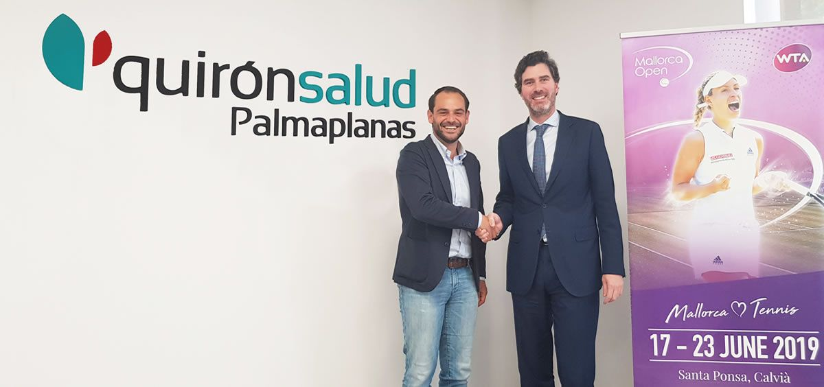 Félix Torralba, director del Mallorca Open, y Víctor Ribot, director territorial Quirónsalud Baleares
