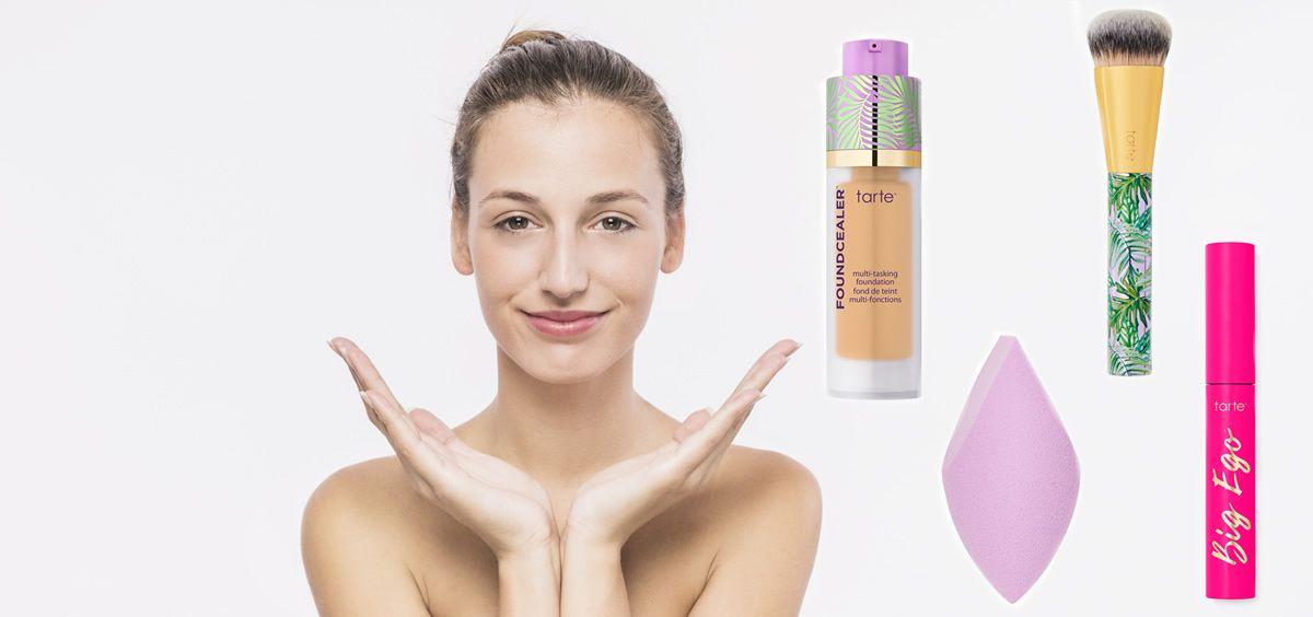 Maquillaje eco chic de Tarte (Foto. Fotomontaje Estetic)