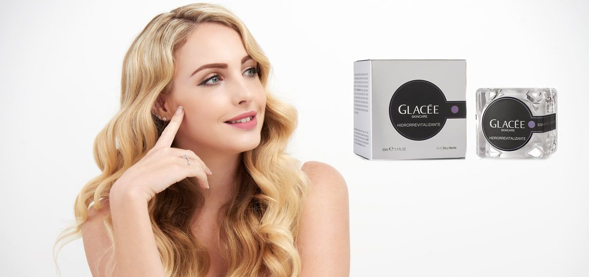 Crema hidrorrevitalizante de Glacée Skincare (Foto. Fotomontaje Estetic)