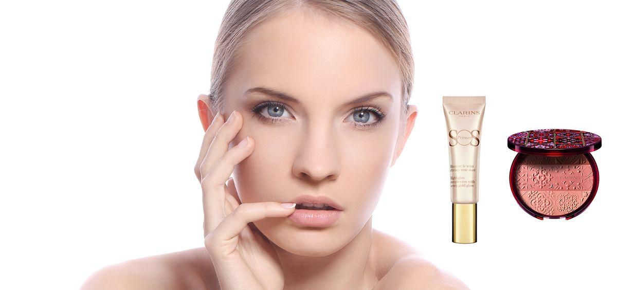 Colección maquillaje de verano de Clarins (Foto. Fotomontaje Estetic)
