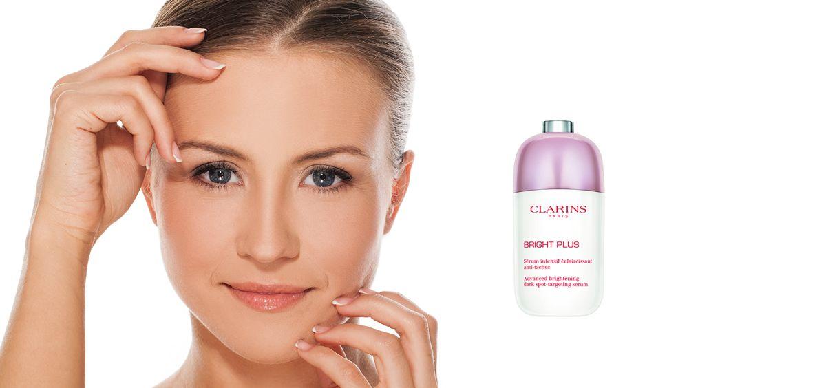Bright Plus Serum de Clarins (Foto. Fotomontaje Estetic)
