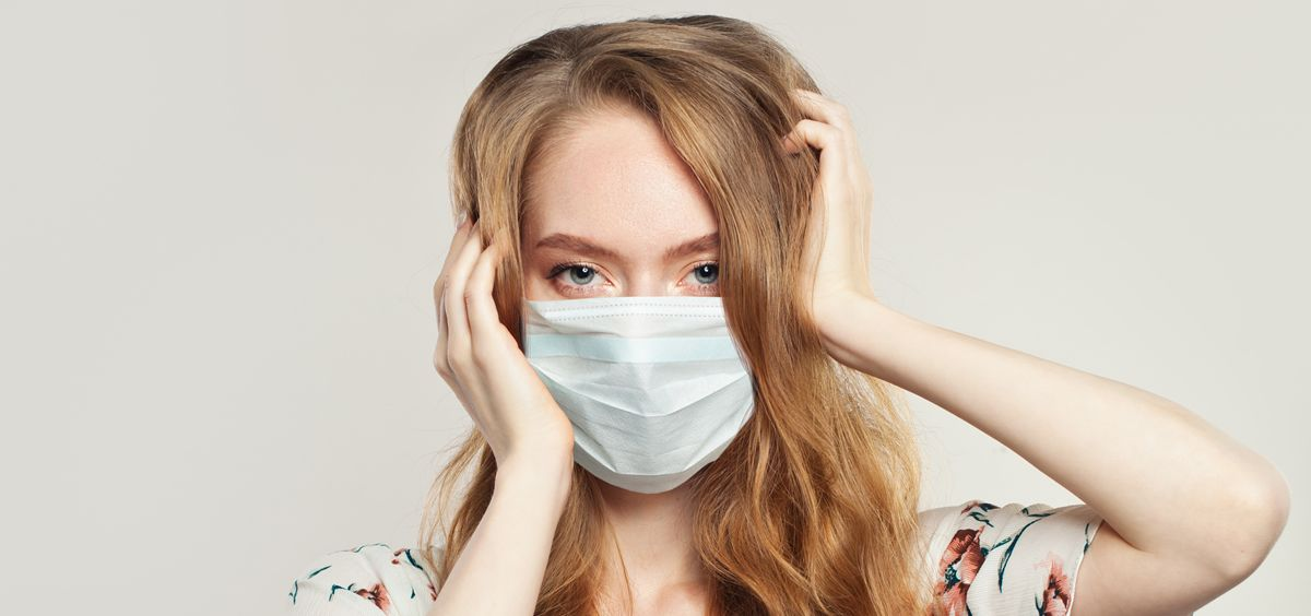 Acné causado por la mascarilla (Foto. iStock)