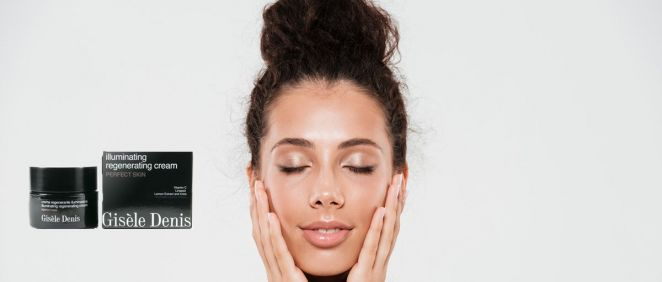 Crema facial regenerante iluminadora de Gisèle Denis (Foto. Fotomontaje Estetic)