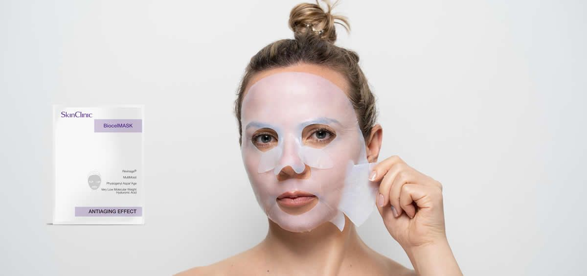 Mascarillas faciales de SkinClinic (Foto. Fotomontaje Estetic)