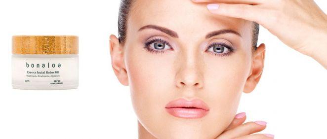 Crema facial Botox Lift de Bonaloa (Foto. Fotomontaje Estetic)