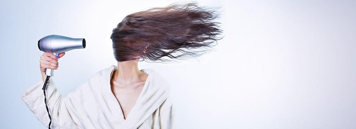 Caída del cabello.