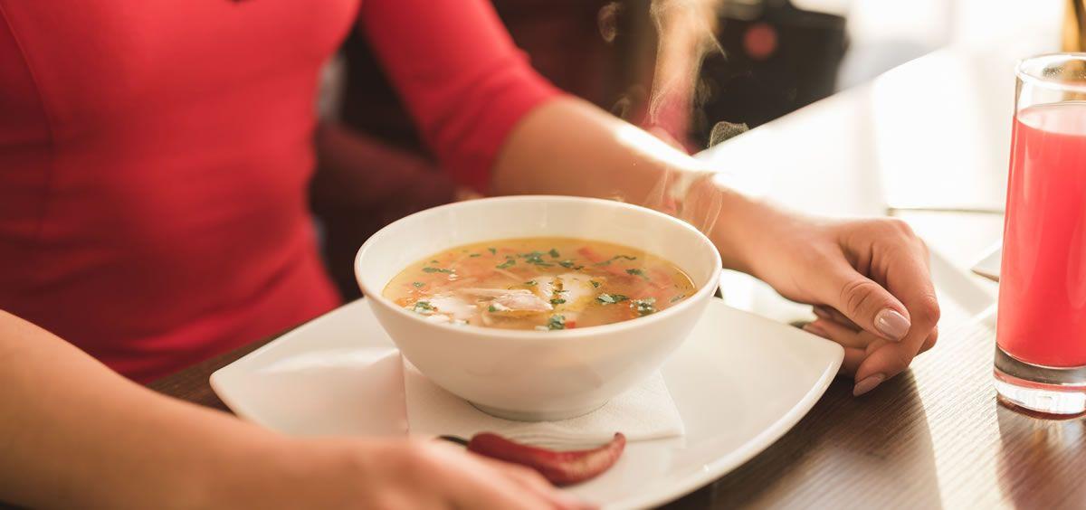 Los platos de cuchara aumentan la temperatura corporal