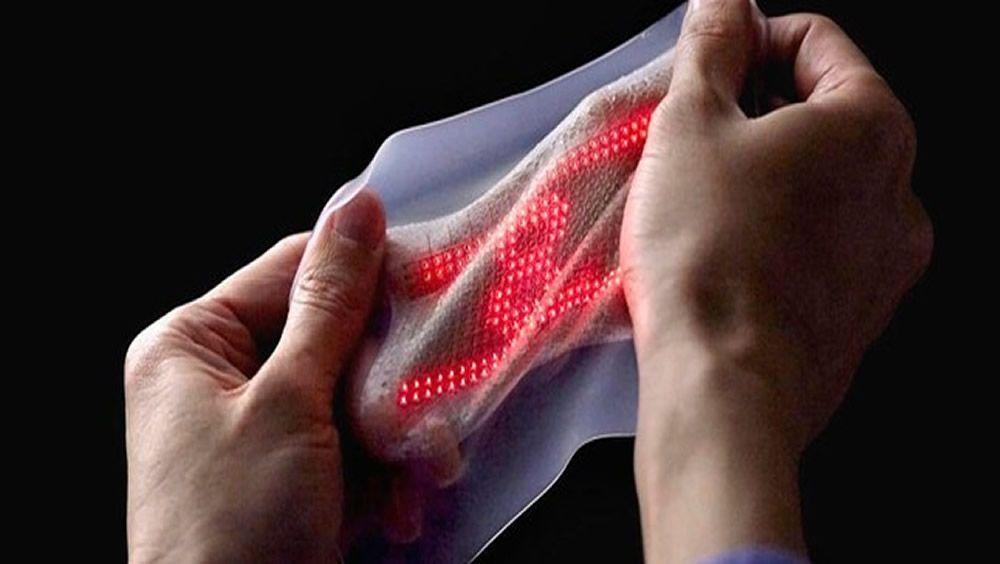 Piel electrónica sensible para dispositivos protésicos