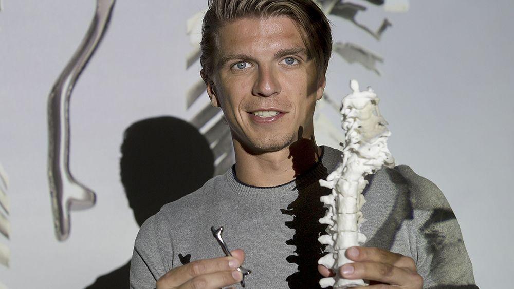 Modelo de implante óseo de titanio impreso en 3D (Foto. Centro Médico de la Universidad de Utrecht)