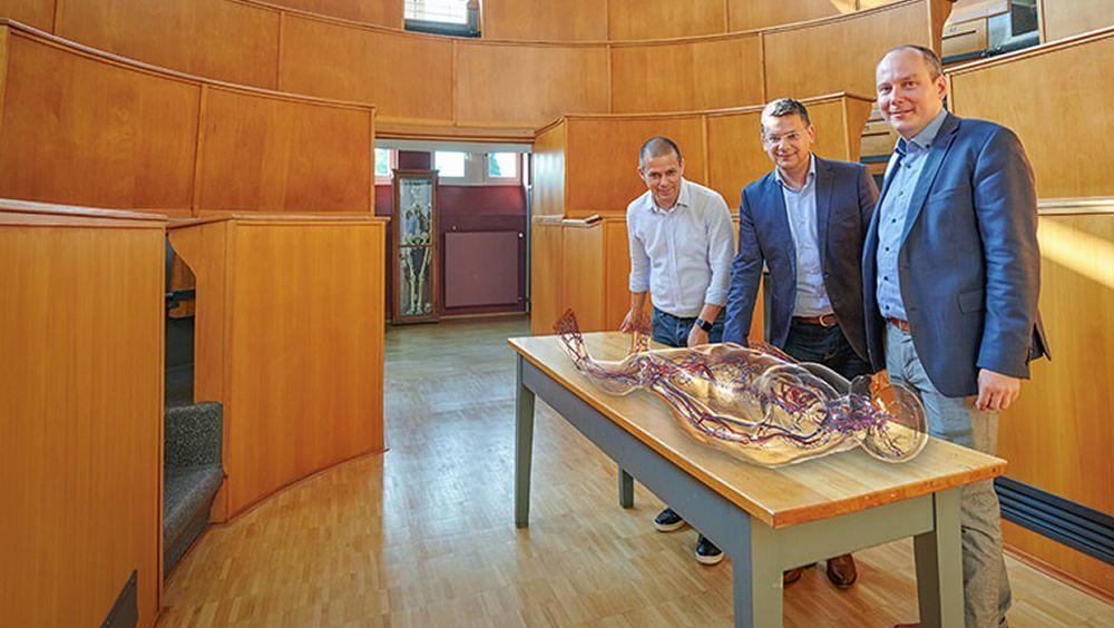 Realidad virtual en medicina (Foto. Volker Lannert  Universidad de Bonn)
