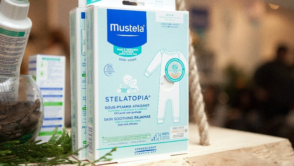 Primer pijama que alivia las molestias de la piel atópica (Foto. Mustela)
