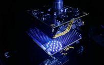 Un nuevo tipo de microscopio que utiliza un tazón con luces LED. (Foto. Universidad de Duke)