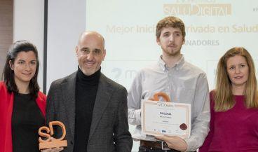 Las iniciativas ganadores en la categoría Mejor Iniciativa Privada en los Premios SaluDigital 2020(Foto. Mediforum)