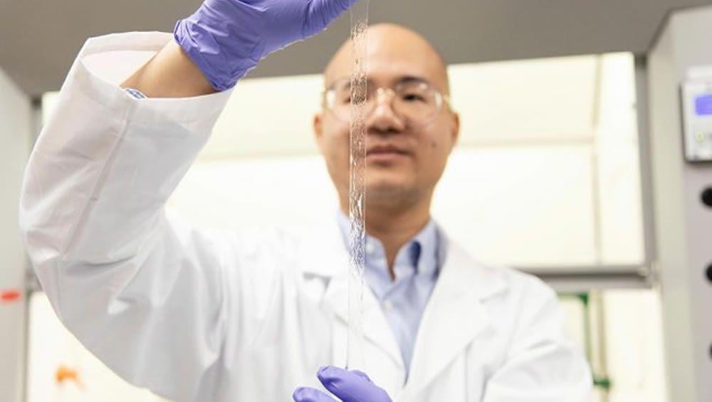 El sensor 'tipo piel' altamente estirable, bautizado con el nombre de AISkin (Foto: Universidad de Toronto)