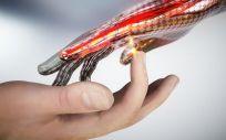 Investigadores australianos desarrollan piel artificial electrónica que reacciona al dolor (Foto: RMIT)