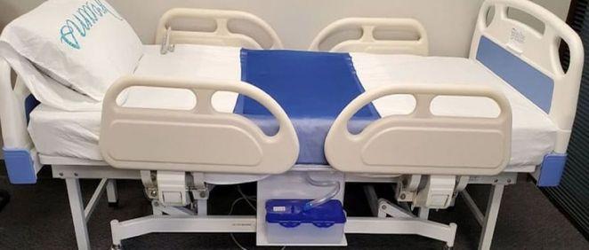 Una cama hospitalaria drena los fluidos de los pacientes con incontinencia (Foto. Easy Drain Care Products)