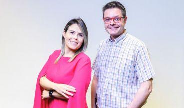 Gabriela Jiménez y Oriol Casanovas, dos de los responsables del proyecto (Foto. AtG)