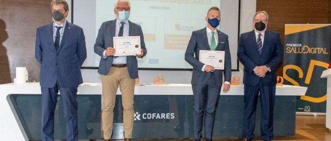 Finalistas de la categoría Detección del empeoramiento clínico en pacientes diagnosticados de COVID 19 (Foto. Oscar Frutos)