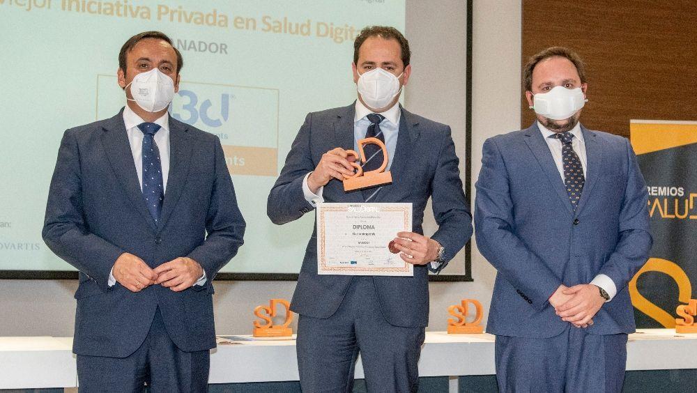 Manuel Castro, premio Mejor Iniciativa en Salud Digital (Foto. Oscar Frutos)