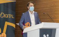 Javier Arcos, durante su intervención (Foto. Oscar Frutos)