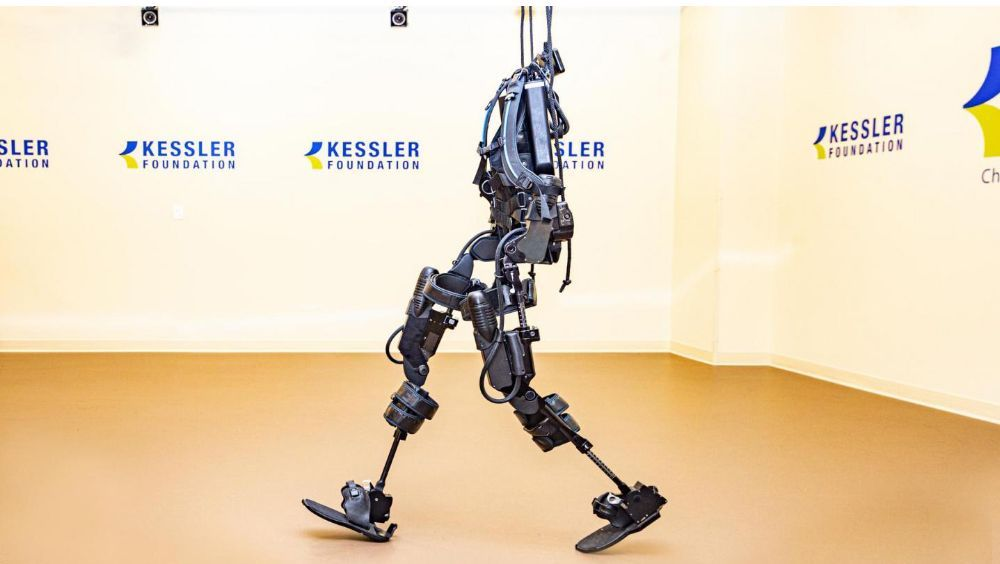 Un exoesqueleto robótico utilizado en la investigación de lesiones de la médula espinal