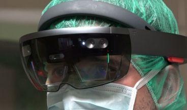 Gafas de realidad mixta del proyecto